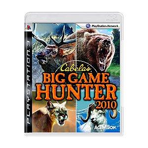 Jogo Cabela's Big Game Hunter 2010 - PS3