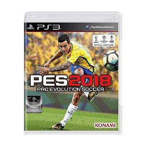 Jogo Pro Evolution Soccer 2018 (PES 18) - PS3