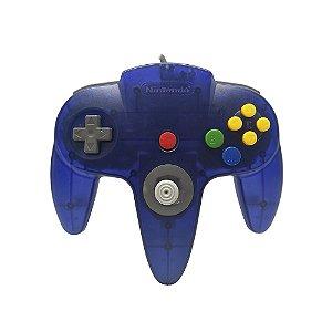 Controle Nintendo 64 Azul Transparente - Nintendo