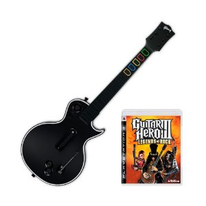 Jogo Guitar Hero III: Legends of Rock + Guitarra - PS3