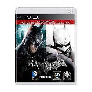 Jogo Batman: Arkham Asylum + Batman: Arkham City - PS3