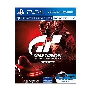 Jogo Gran Turismo Sport - PS4 (Capa Dura)