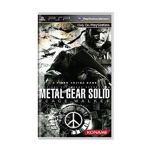 Jogo Metal Gear Solid: Peace Walker - PSP