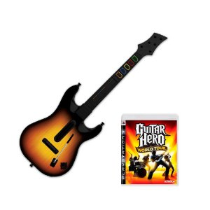 Jogo Guitar Hero: World Tour + Guitarra - PS3