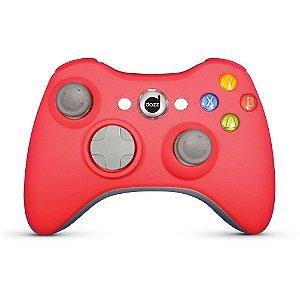 Controle Dazz Rubber Pad Com Fio Vermelho - Xbox 360