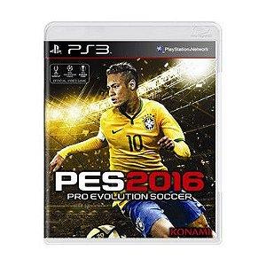 Jogo Pro Evolution Soccer 2016 - PS3