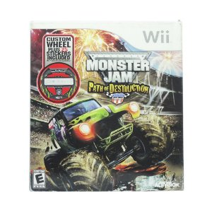 Jogo Monster Jam: Path of Destruction + Volante - Wii