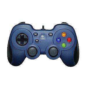 Controle Logitech com fio Cinza Azulado - Xbox 360