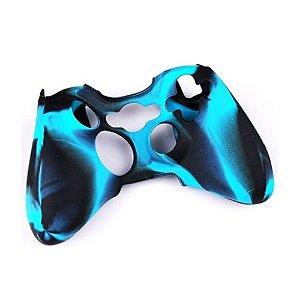 Capa de Silicone Camuflagem Azul/Preto para Controle Microsoft - Xbox 360