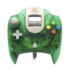 Controle Verde Transparente - DreamCast