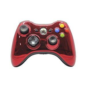 Controle Microsoft Vermelho Cromado - Xbox 360