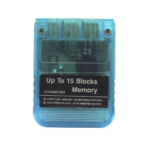 Memory Card Azul Transparente - PS1