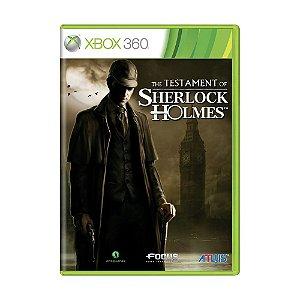 Jogo The Testament Of Sherlock Holme - Xbox 360