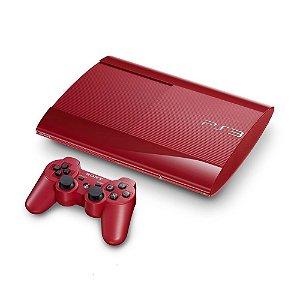 Console PlayStation 3 Super Slim Vermelho 12GB - Sony