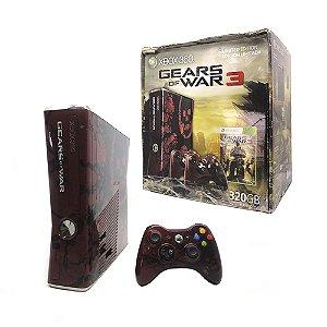 Console Xbox 360 Slim 320GB (Edição Limitada: Gears of War 3) - Microsoft