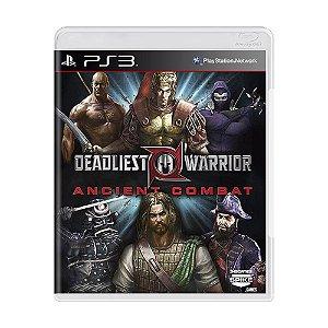 Jogo Deadliest Warrior: Ancient Combat - PS3