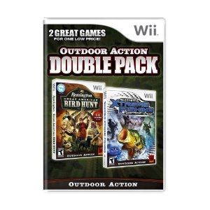 Jogo Outdoor Action Double Pack (Remington Great American Bird Hunt + Shimano Xtreme Fishing) - Wii