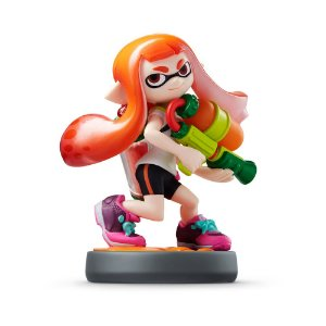 Nintendo Amiibo: Inkling Girl (Orange) - Splatoon - Wii U, New Nintendo 3DS e Switch