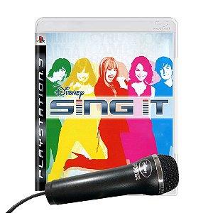 Jogo Disney Sing It (com microfone) - PS3