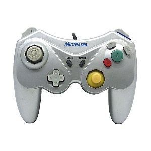 Controle Nintendo GameCube Multilaser Prata com fio - Wii e GameCube