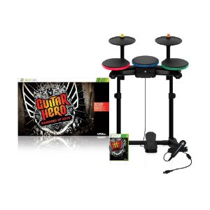 Jogo Guitar Hero Warriors of Rock + Bateria + Microfone - PS3