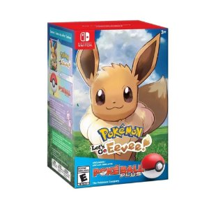 Jogo Pokémon: Let's Go, Eevee! (Pokéball Plus Bundle) - Switch