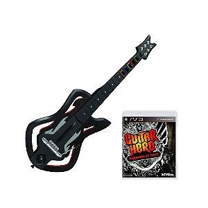 Jogo Guitar Hero: Warriors of Rock + Guitarra - PS3