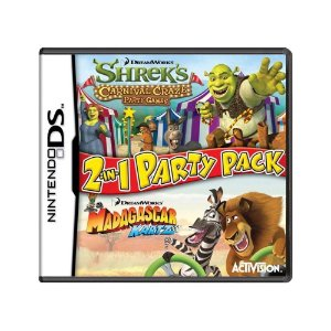 Jogo Shrek's Carnival Craze Party Games & Madagascar Kartz - DS