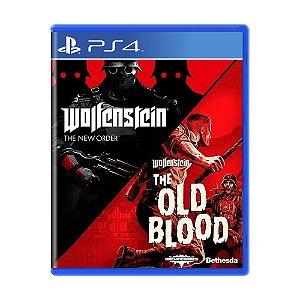 Jogo Wolfenstein: The old Blood + Wolfenstein II: The New Order - PS4