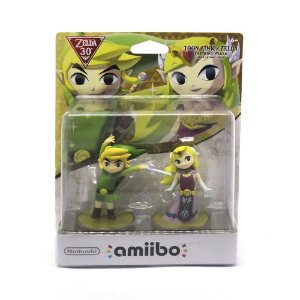 Nintendo Amiibo: Toon Link/Zelda - Super Smash Bros - Wii U, New Nintendo 3DS e Switch