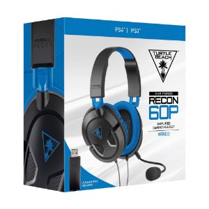 Headset Turtle Beach Recon 60p - PS3, PS4, Xbox One e PC