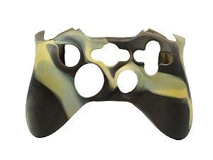 Capa de Silicone Camuflagem Marrom/Bege para Controle Microsoft - Xbox 360