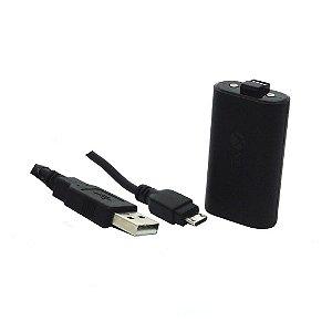 Bateria original Microsoft com cabo paralelo (Play & Charge) - Xbox One
