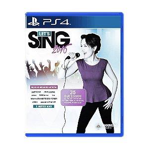 Jogo Let's Sing 2016 - PS4