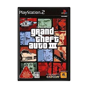 Jogo Grand Theft Auto III - PS2 (Japonês)