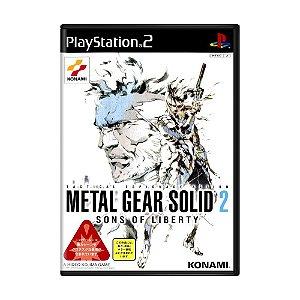 Jogo Metal Gear Solid 2: Sons of Liberty - PS2 (Japonês)