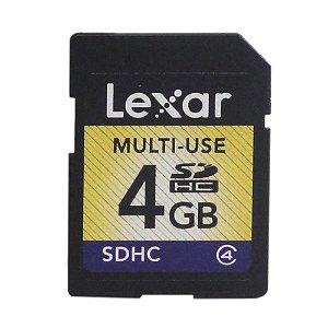 Cartão de Memória 4GB SDHC - Lexar