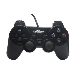 Controle Bright Dualshock 2 Com Fio Preto - PS2