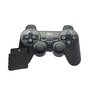 Controle RG Dualshock 2 Sem Fio Preto - PS2