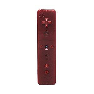 Controle Wii Remote Vermelho - Wii