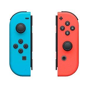 Controle Nintendo Joy-Con (Direito e Esquerdo) Colorido - Switch