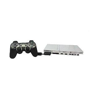 Console Playstation 2 Prata - Sony (Japonês)