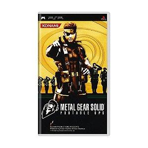 Jogo Metal Gear Solid: Portable Ops - PSP