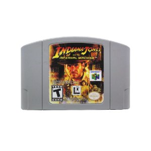 Jogo Indiana Jones and the Infernal Machine - N64 (Relabel)