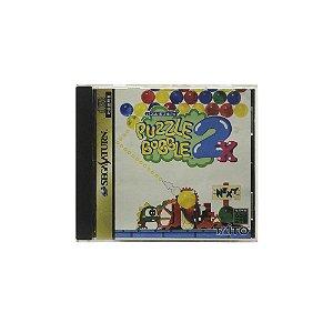 Jogo Puzzle Bobble 2X - Sega Saturn (Japonês)