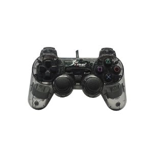 Controle Knup Dualshock 2 Com Fio Transparente - PS2