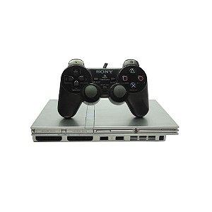 Console PlayStation 2 Slim Prata (Japonês) - Sony