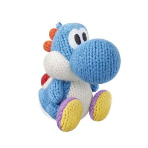 Nintendo Amiibo: Yoshi Light Blue - Yoshi's Woolly Series - Wii U, New Nintendo 3DS e Switch