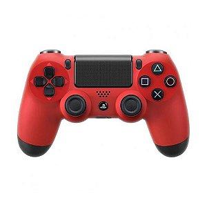 Controle Sony Dualshock 4 Vermelho sem fio - PS4