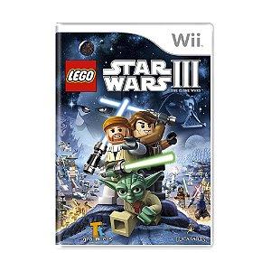 Jogo LEGO Star Wars III: The Clone Wars - Wii